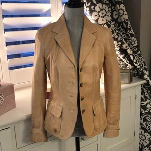 Danier Leather Blazer in beige